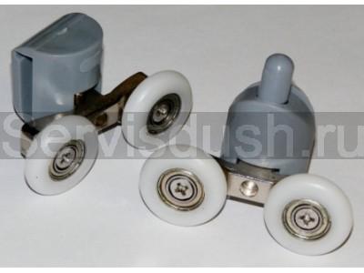 Ролики для душевой кабины 4 верхних, 4 нижних - 22 мм , 25 мм