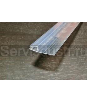 Силиконовый уплотнитель нижний для стекла 6 мм,8 мм,10 мм (длина 200 см.)
