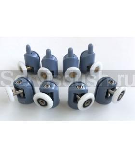 Ролики для душевой кабины 4 верхних, 4 нижних -19 мм , 22 мм , 25 мм , 27 мм (комплект 8 шт.)