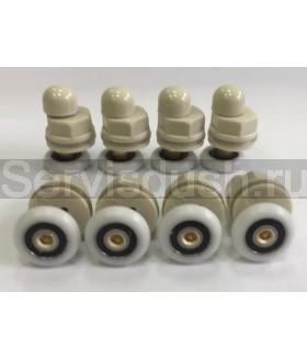 Ролики для душевой кабины диаметр колеса 22 мм. , 25 мм. (комплект 8 шт.)