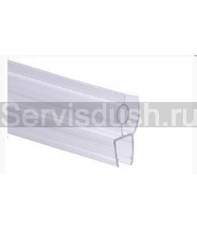 Силиконовый уплотнитель нижний для стекла 6мм,8мм,10мм (длина 100 см.)