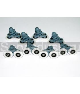 Ролики для душевой кабины, эксцентрик (два колёсика) 22 мм , 25 мм (комплект 8 шт.)